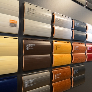 Farbmuster für Rollladen – Behänge