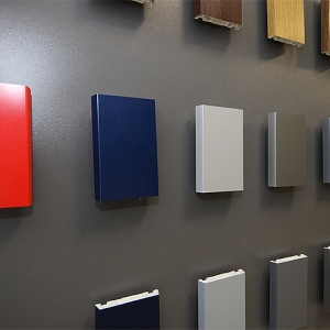 Farbmuster für Türen und Fenster