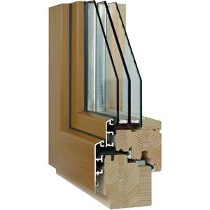Holz-Aluminium-Fensterquerschnitt