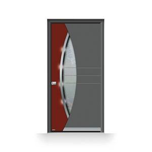 Glas-Haustür mit Kratzschutz, Fingerscan und LED-Beleuchtung