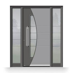 Pirnar-Haustür aus Glas mit Fingerscan